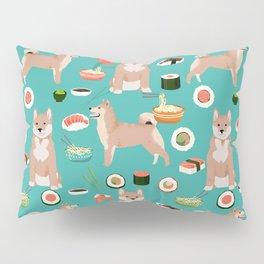 shiba inu sushi dog breed pet pattern dog mom Pillow Sham