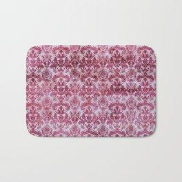 Vintage Antique Pink-Magenta Wallpaper Pattern Bath Mat
