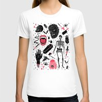 duvet T-shirts featuring Whole Lotta Horror by Josh Ln