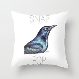 Snap Grackle Pop Throw Pillow