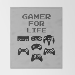 Gamer For Life Throw Blanket