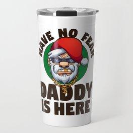 Gangster Santa Claus Travel Mug