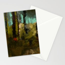 Forest abstract digital illustration texture landscape pattern painting Stationery Cards