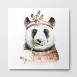 Panda Art Print Metal Print