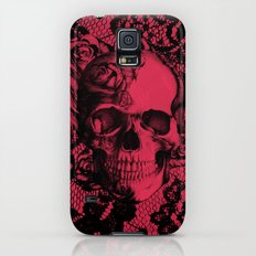 Gothic Lace Skull in red and black. Galaxy S5 Slim Case