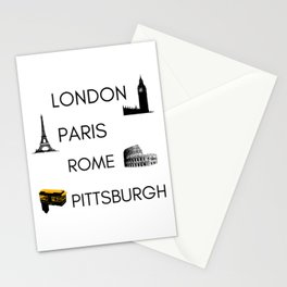 Pittsburgh Funny Cities Travel London Paris Rome Pennsylvania Humor Stationery Cards