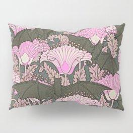 VINTAGE BATS & PINK LILIES ART Pillow Sham