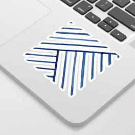 Watercolor lines pattern   Navy blue Sticker