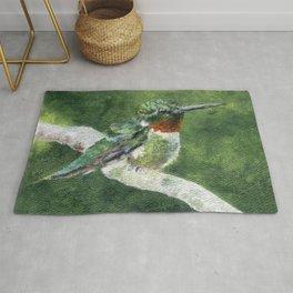 Romeo the Hummingbird by Teresa Thompson Rug