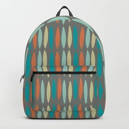Contemporary Mid-Century Modern Geometric Pattern Backpack