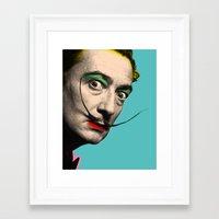 salvador dali Framed Art Prints featuring Salvador Dali by mark ashkenazi