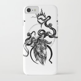 moon goat iPhone Case