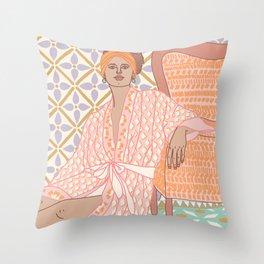 Pastel Babe Throw Pillow