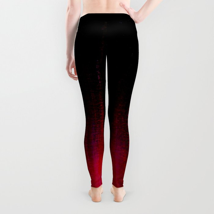 Red and Black Abstract Leggings