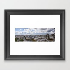 Panorama of Paris from Notre Dame  Framed Art Print