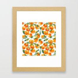 Mandarins With Leaves Framed Art Print