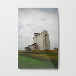 Grain Elevator on the Canadian Prairie Metal Print