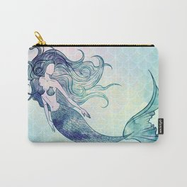 Watercolor Mermaid Carry-All Pouch