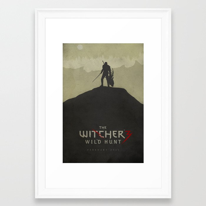 Hunting Evil - The Witcher 3: Wild Hunt Poster Framed Art Print by ...