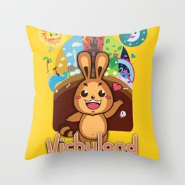 VichyLand Throw Pillow