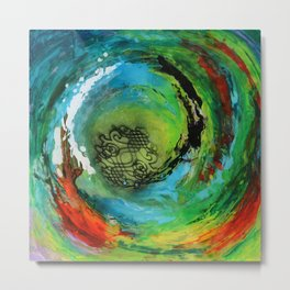 Maelstrom, captivating abstract painting Metal Print
