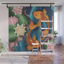 Carp Koi Fish in pond 002 Wall Mural