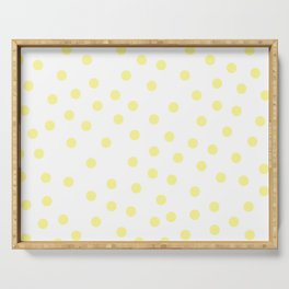 Simply Dots in Pastel Yellow Serving Tray