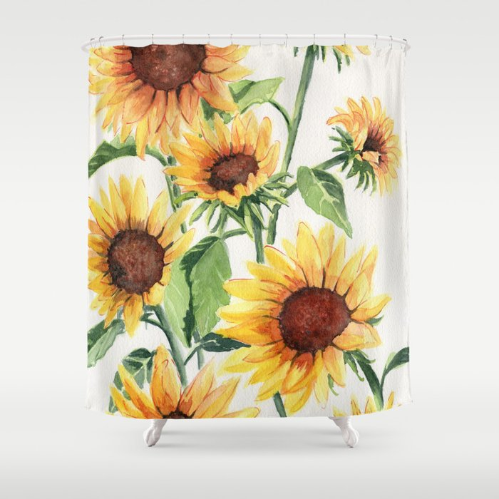 Sunflowers Shower Curtain By Mellyterpening
