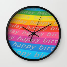 Rainbow Birthday Wall Clock