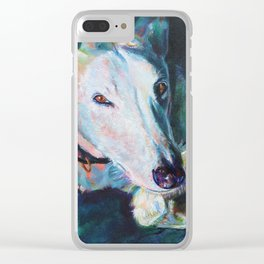 Greyhound Lapping Up The Sun Clear iPhone Case