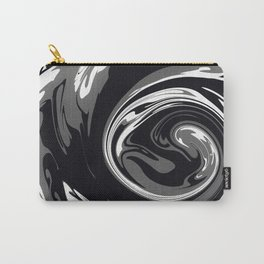 HURRICANE black white and grey swirl abstract design Carry-All Pouch