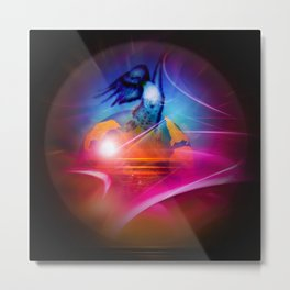 Our world is a magic - free like a bird Metal Print