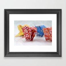 Origami Crane Basket Framed Art Print