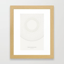 the worship of reason Framed Art Print