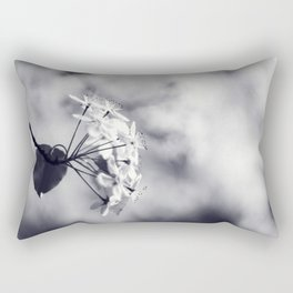 Blossoms in Black and White Rectangular Pillow