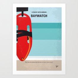 No730 My Baywatch minimal movie poster Art Print