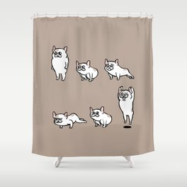 French Bulldog Burpees Shower Curtain