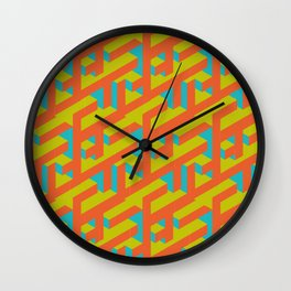 Isometric Colors Wall Clock