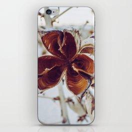 White Orange Flower iPhone Skin