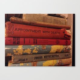 Dusty Books Canvas Print