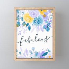 Modern lavender floral watercolor fabulous script typography Framed Mini Art Print