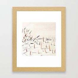 Sticks and Shadows on the North Thompson Framed Art Print