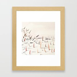Sticks and Shadows on the North Thompson Framed Art Print
