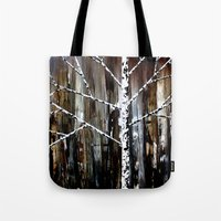 frank Tote Bags featuring Frank by Erin Brekke Conn