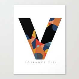 The V (Spilled) Canvas Print