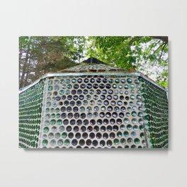 Bottle House Church exterior rear wall Metal Print