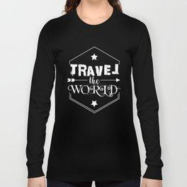Travel the world (white version) Long Sleeve T-shirt