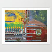 car Art Prints featuring Car by Fernando Vieira