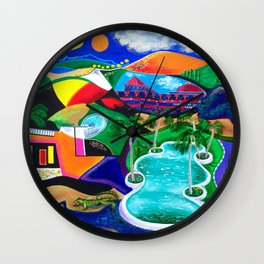 Night in Ponce, Puerto Rico Wall Clock