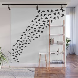 Flock of Birds // black Wall Mural